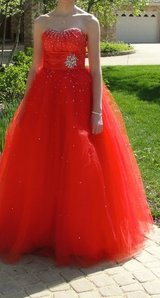 Mori Lee Red Prom Dress - Size 3/4 in Aurora, Illinois