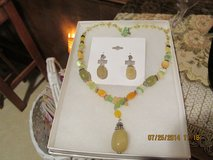 Beautiful Gemstone Pendant Necklace & Earrings Giftset - Gift-Boxed in Houston, Texas