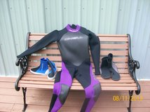 Wet suit and wet boots in Fort Knox, Kentucky