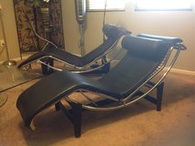 Black leather Le Corbusier chaise in Travis AFB, California