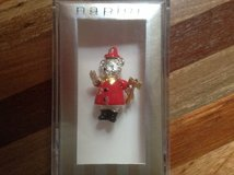 FireDepartment SIlver BEAR PIN Moveable Head, Arms & Legs by NAPIER Gift Boxed in Aurora, Illinois