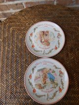 Pair Beatrix Potter Christmas Plates in Naperville, Illinois