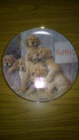 """Franklin Mint """"Adopt a Puppy"""" Collector Plate - Golden Retrievers in Chicago, Illinois"""